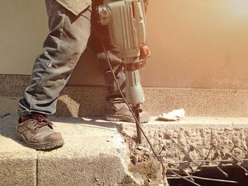 къртене на бетонна плоча